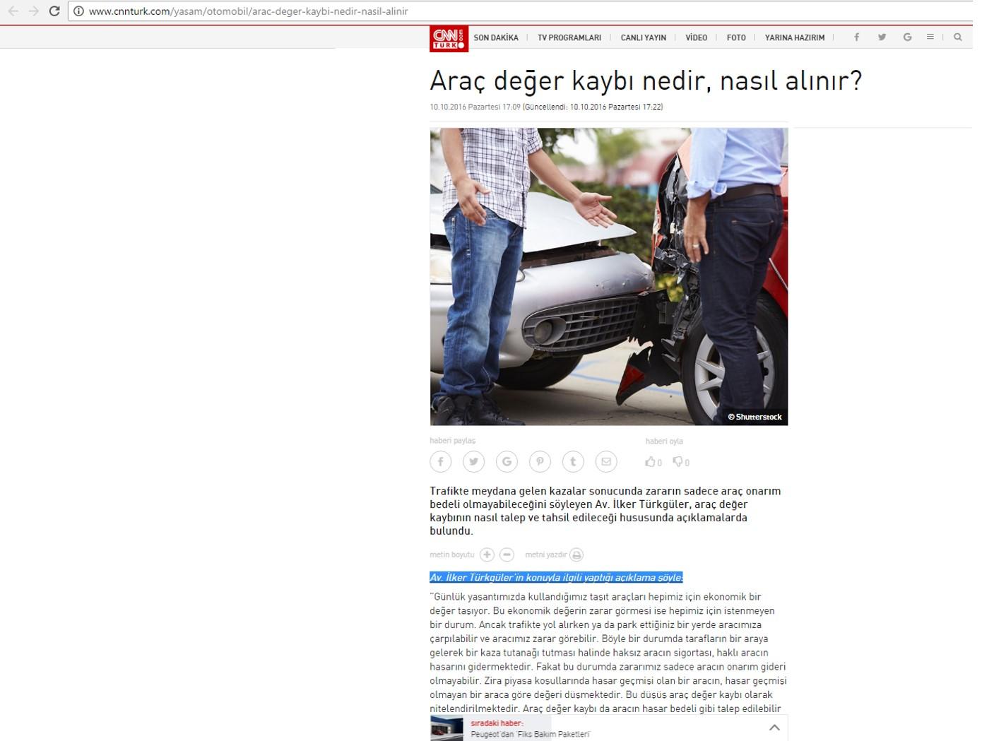 Araç Değer Kaybı CNN TÜRK